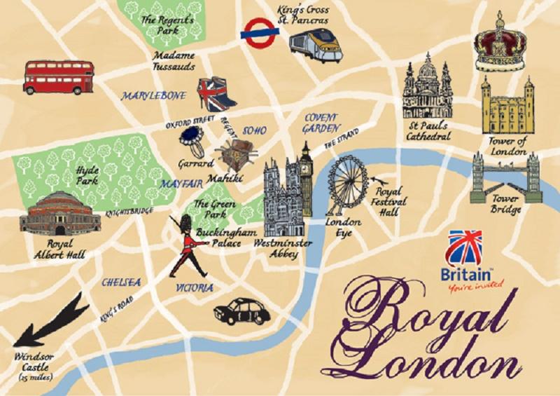 London Látnivalók Térkép